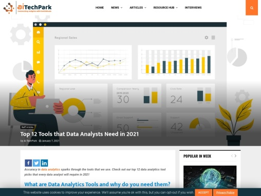 Top 12 Tools that Data Analysts Need in 2021