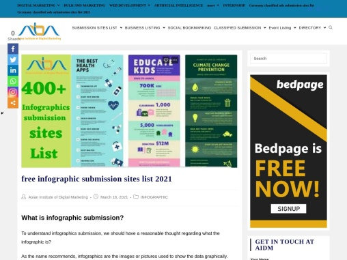 550+ free infographic submission sites list 2021