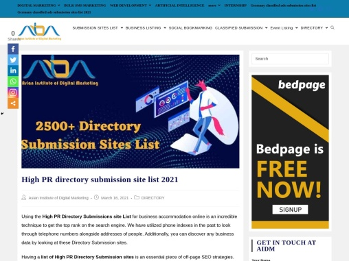 2500+ High PR directory submission site list 2021