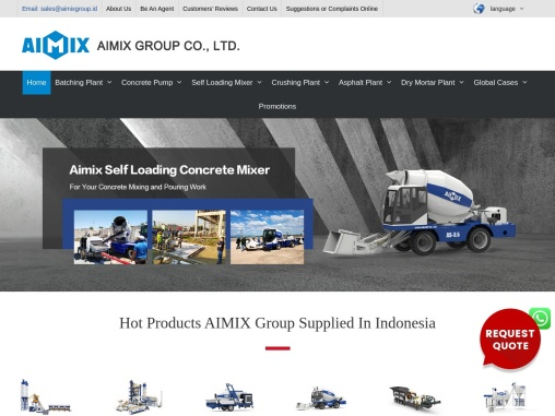 Aimix Group – Construction Machinery Supplier