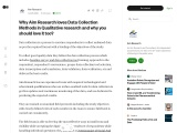 Why Aim Research loves Data Collection Methods in Qualitative research and why you should love it to