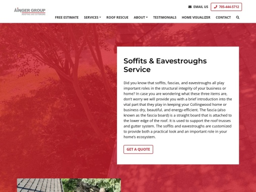 Soffits & Eavestroughs Installation in Barrie – Ainger Group