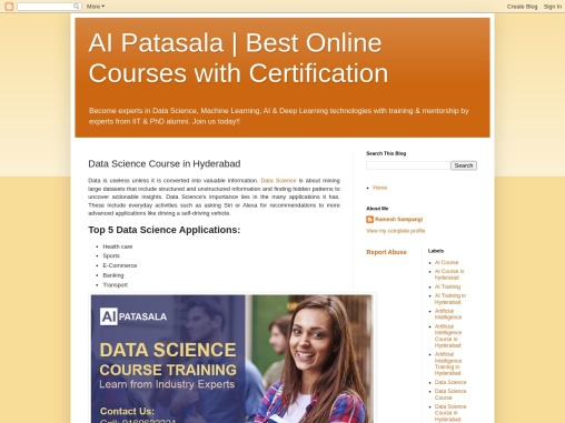 Data Scientist Training in Hyderabad