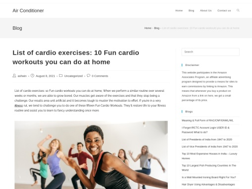 List of cardio exercises: 10 Fun cardio workouts you can do at home