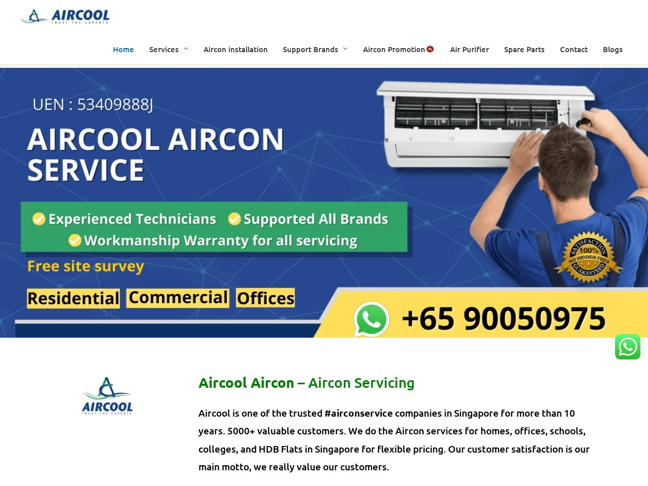 Aircon installation singapore and aircon service