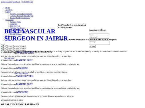 Best Vascular treatment in Jaipur   Vascular Doctor in Jaipur – Airen Vascular