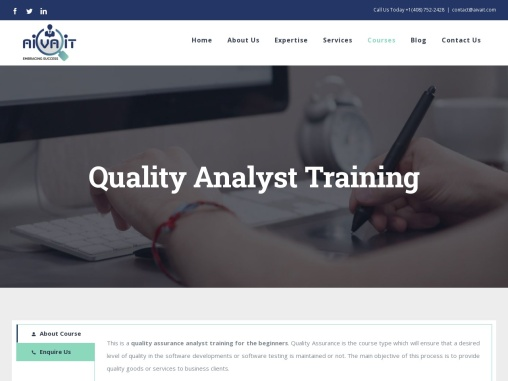 Quality Analyst Training in Fremont