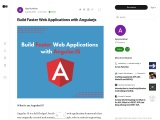 Build Faster Web Applications with Angularjs