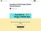 Essentials of UI/UX Design in Mobile App Development