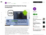 iOS Vs Android: Which is Best for Your App Development?