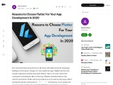 Reasons to Choose Flutter For Your App Development