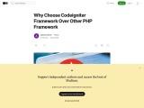 Why Choose Codeigniter Framework Over Other PHP Framework