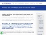 Stainless Steel Socket Weld Flanges Manufacturer