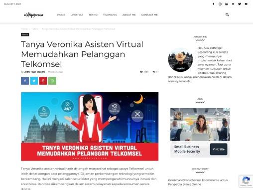 Tanya Veronika Asisten Virtual Memudahkan Pelanggan Telkomsel