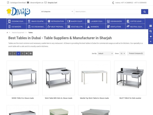 Buy Best Tables available at reasonable prices in Dubai from Al Diwan.
