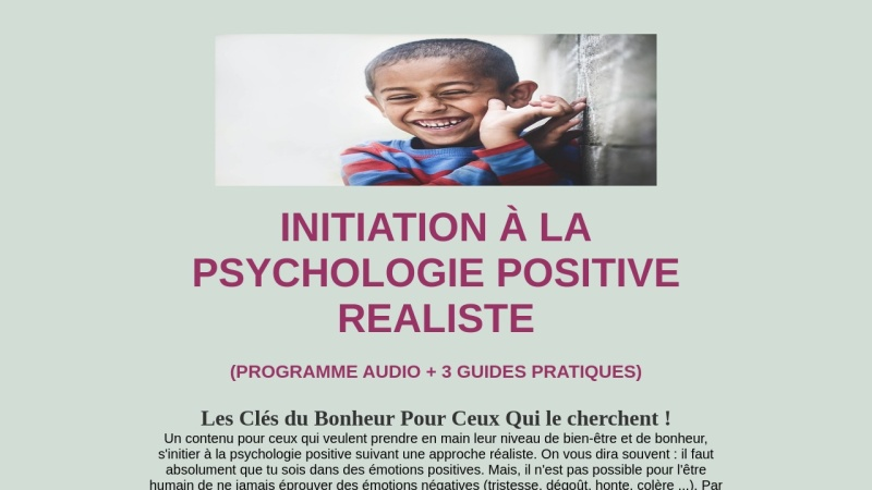 initiation a la psychologie positive realiste