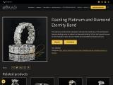 Dazzling platinum and diamond eternity band