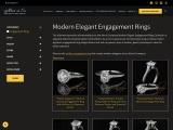 modern platinum engagement ring