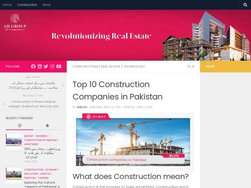 Top 6 Construction Companies in Pakistan