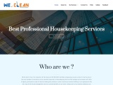 We clean housekeeping services