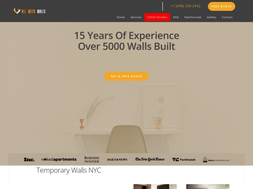 Get the best Pressurized walls NYC