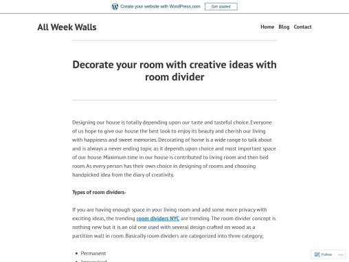Decorate your room with creative ideas with room divider