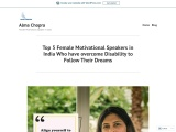 Top 5 Female Motivational Speakers in India Who have overcome Disability to Follow Their Dreams