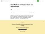 Virtex: Best Online Event Platform