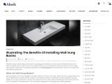 Illustrating The Benefits Of Installing Wall Hung Basins