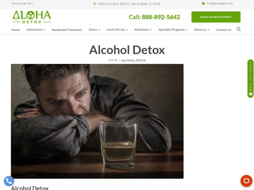What is the finest alcohol and drug detox centre?   Aloha Detox