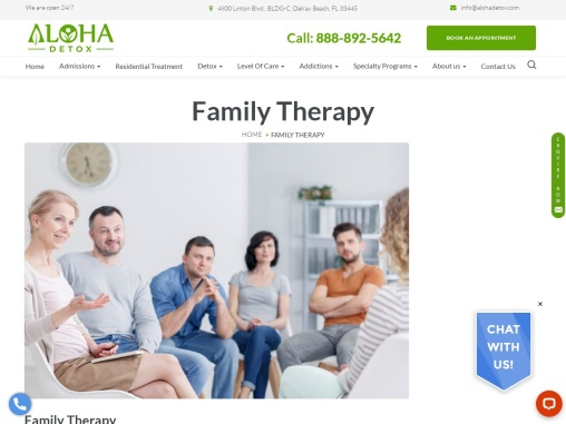 Family Therapy   Family Detox   Family Therapy for Drug and Alcohol Abuse   Aloha Detox