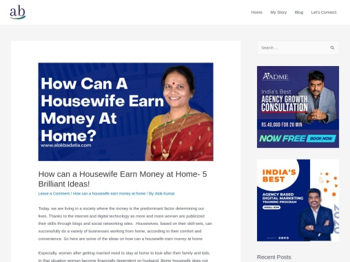 how can housewife earn money at home