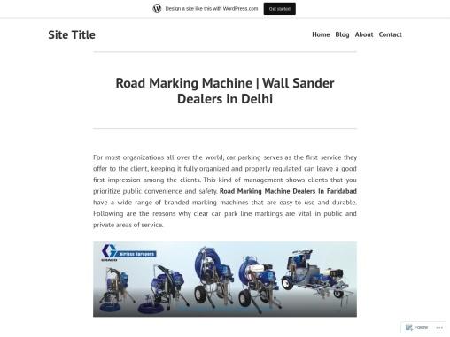 Road Marking Machine | Wall Sander Dealers In Delhi