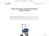 Airless Paint Spray | Spray Paint Machine Dealers In Noida