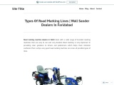 Types Of Road Marking Lines | Wall Sander Dealers In Faridabad
