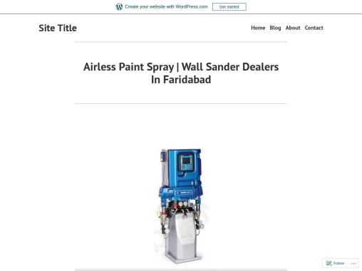 Airless Paint Spray | Wall Sander Dealers In Faridabad
