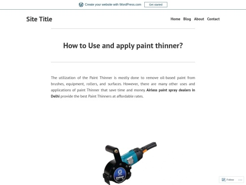 How to Use and apply paint thinner?
