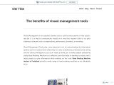 The benefits of visual management tools