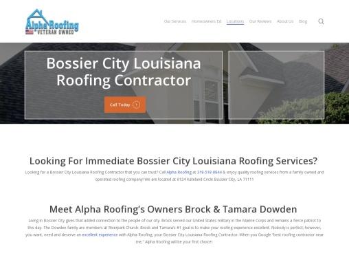 Shreveport Bossier City Roof Repair