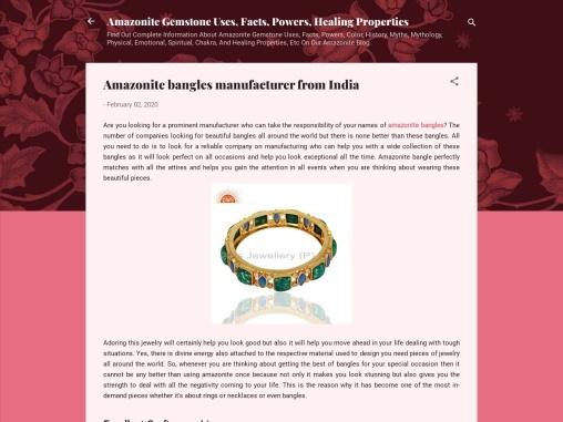 Amazonite bangles manufacturer from India