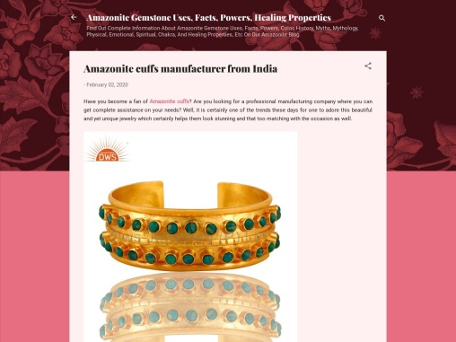 Amazonite cuffs manufacturer from India