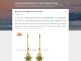 Amazonite Earrings Manufacturer from India
