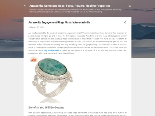 Amazonite Engagement Rings Manufacturer in India