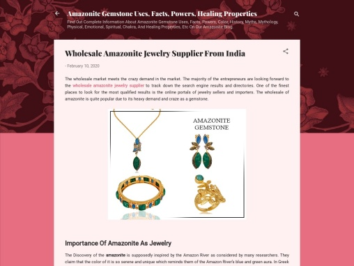 Wholesale Amazonite Jewelry Supplier from India
