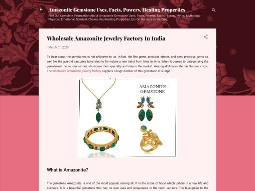 Wholesale Amazonite Jewelry Factory in India