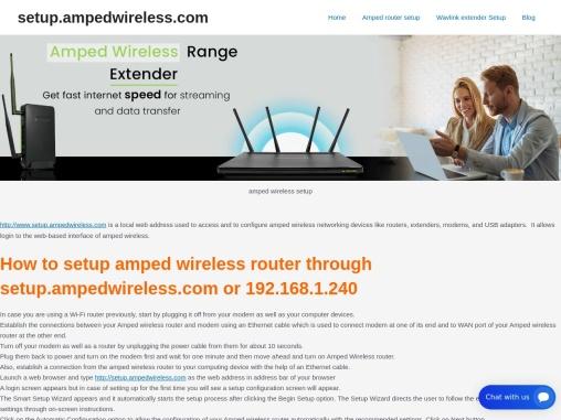 amped wireless setup | http //setup.ampedwireless.com | amped wireless