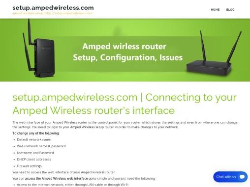 setup.ampedwireless.com : How To Do amped wireless setup