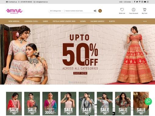 Buy Indian Clothing & Wedding Dresses For Women – Amrut The Fashion Icon