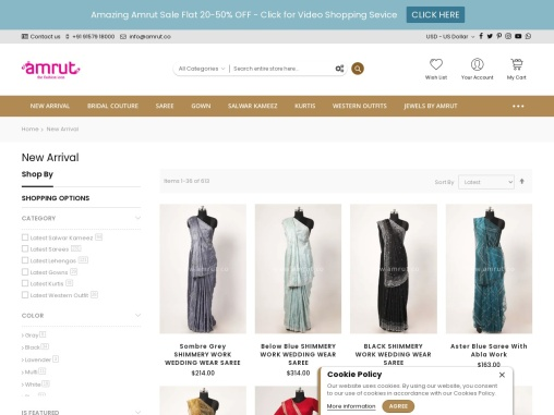 Buy New Arrivals Fashion Apparels For Women – Amrut The Fashion Icon