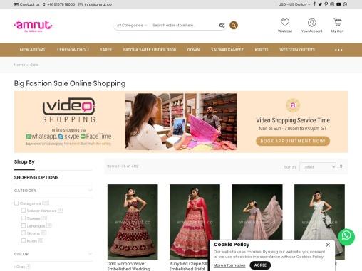 Fashion Sale – Upto 50% Off On Indian Clothing – Amrut The Fashion Icon